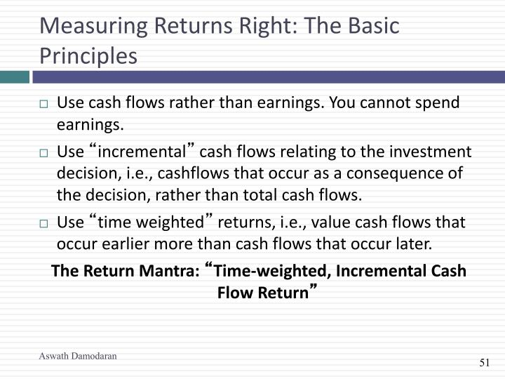 Measuring Returns Right: The Basic Principles