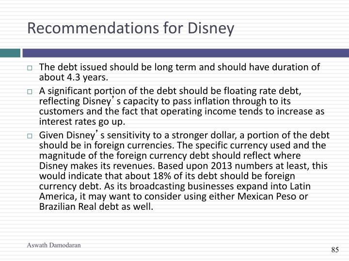 Recommendations for Disney