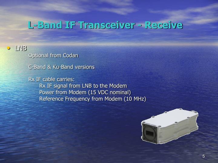 PPT Codan L Band Block Upconverter BUC System