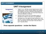 unit 9 assignment