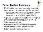 power system examples