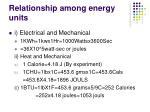 relationship among energy units