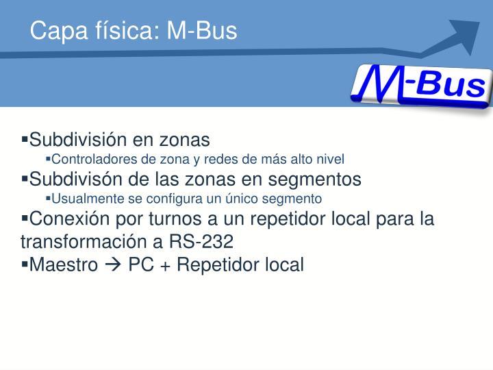 Capa física: M-Bus