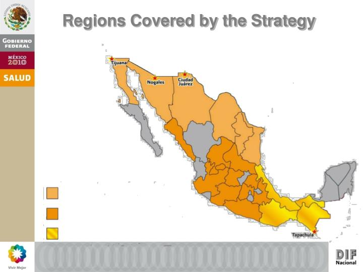Regions Covered by the Strategy