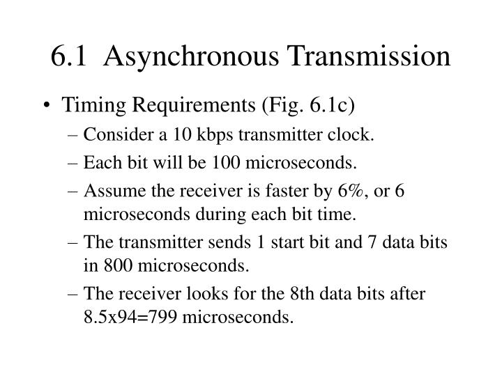6.1  Asynchronous Transmission