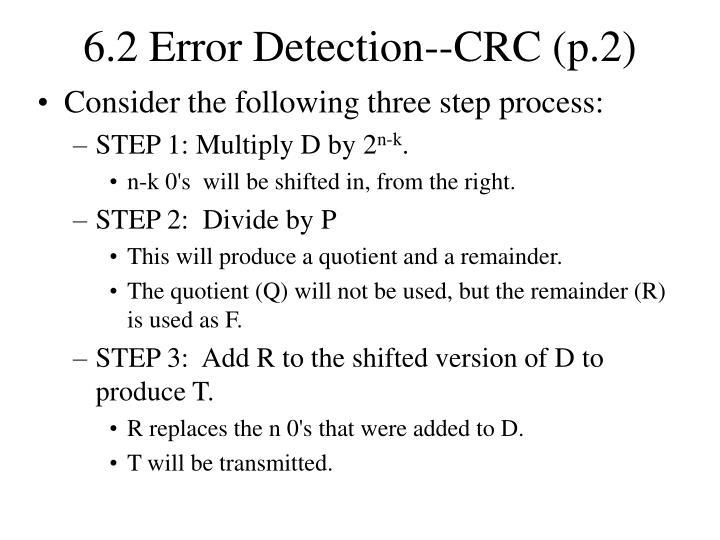 6.2 Error Detection--CRC (p.2)