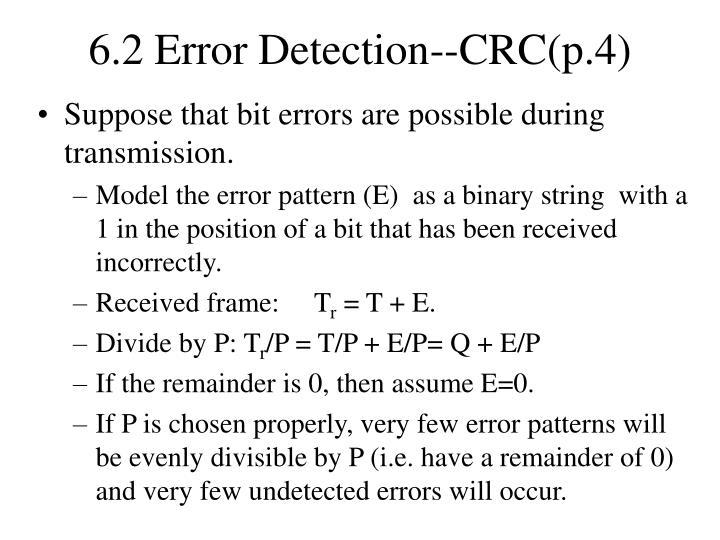 6.2 Error Detection--CRC(p.4)