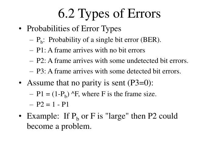 6.2 Types of Errors