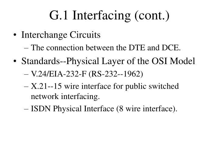 G.1 Interfacing (cont.)