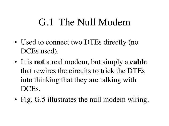 G.1  The Null Modem