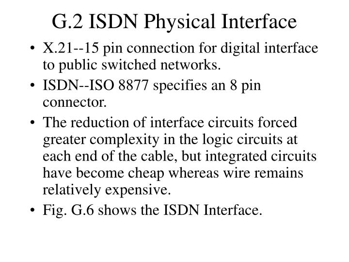 G.2 ISDN Physical Interface