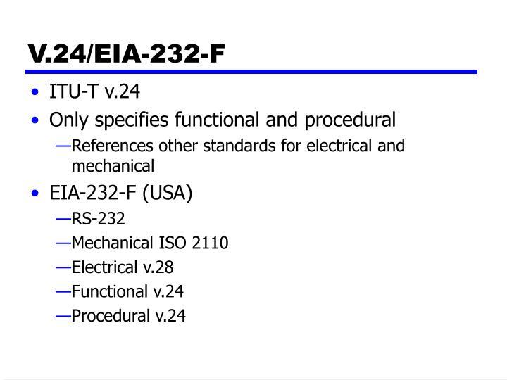 V.24/EIA-232-F
