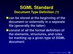 sgml standard document type definition 1
