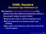 sgml standard document type definitions 2
