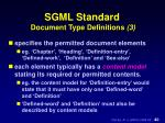 sgml standard document type definitions 3