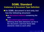sgml standard instances document type definition