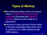 types of markup1