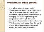 productivity linked growth