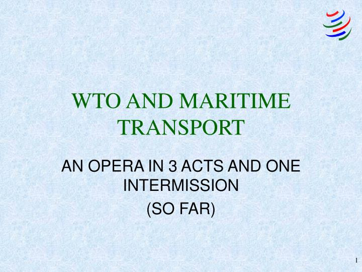 wto and maritime transport n.