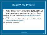 read write process