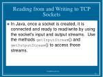 reading from and writing to tcp sockets