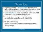 server app