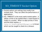 so timeout socket option