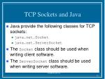 tcp sockets and java