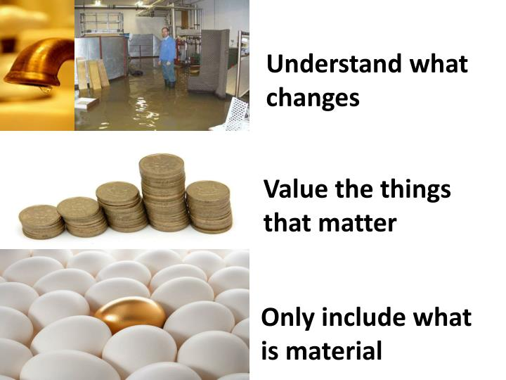 Understand what changes