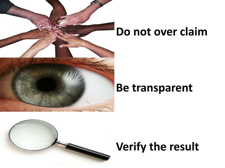 Do not over claim