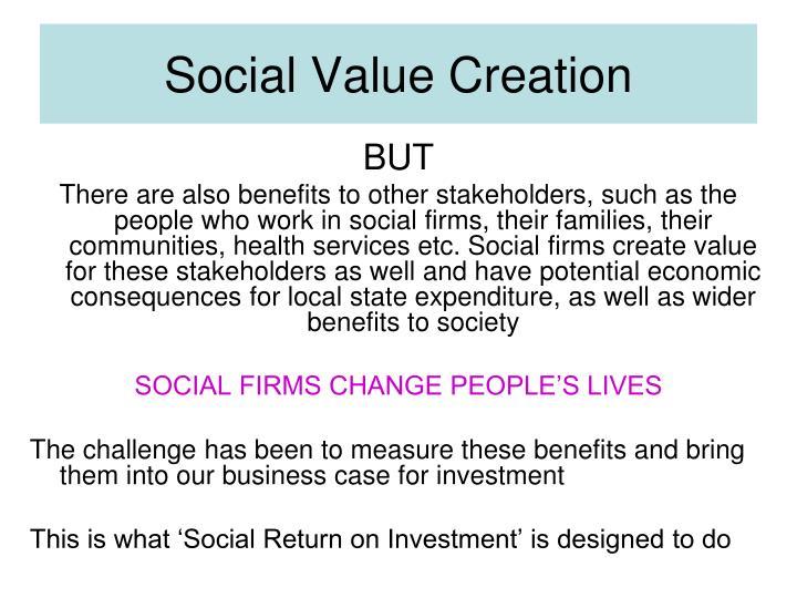 Social Value Creation