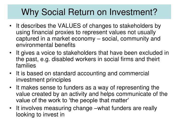 Why Social Return on Investment?
