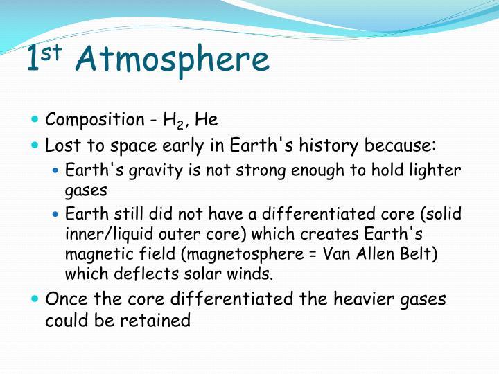 1 st atmosphere