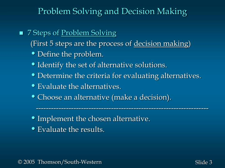 problem solving and decision making review of related literature Clinical problem solving and diagnostic decision making : a selective review of the cognitive research literature / schwartz, alan elstein, arthur s the evidence base of clinical diagnosis: theory and methods of diagnostic research: second edition.