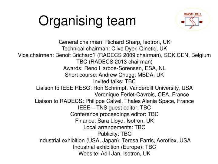 Organising team