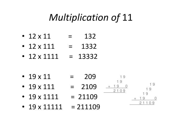 Multiplication of