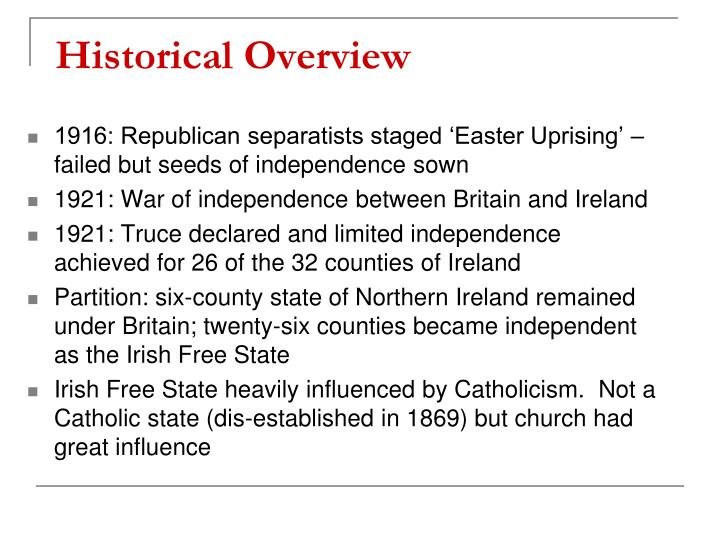 an overview of irish nationalism Continuing with our series of overviews and following the overview of the easter rising and the overview of the irish civil war, john dorney tells the essential story of the 1919-21 irish.