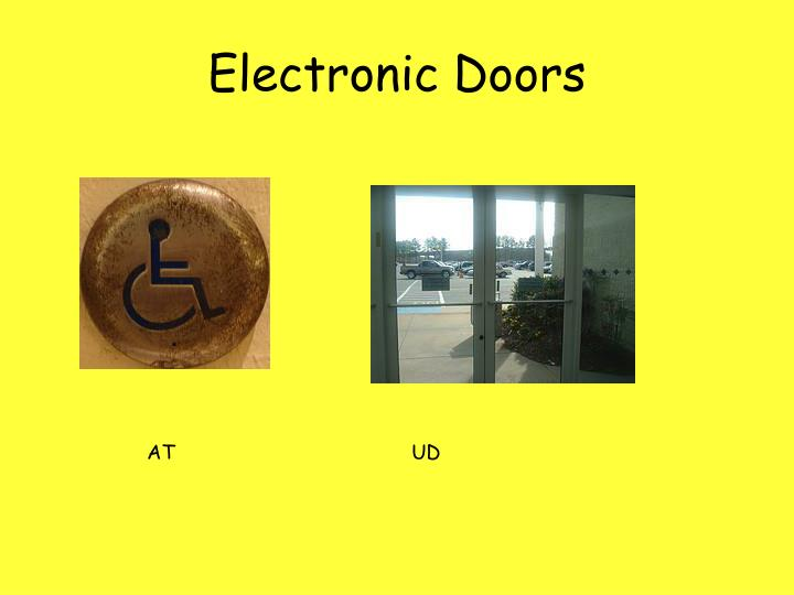 Electronic Doors