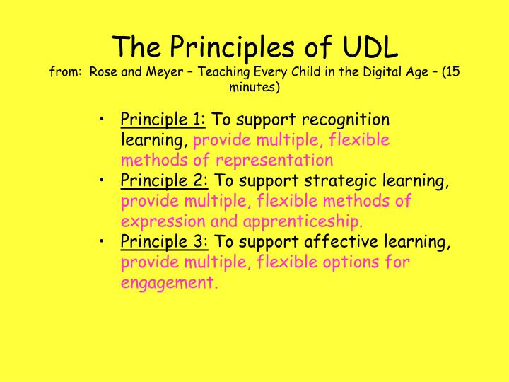 The Principles of UDL