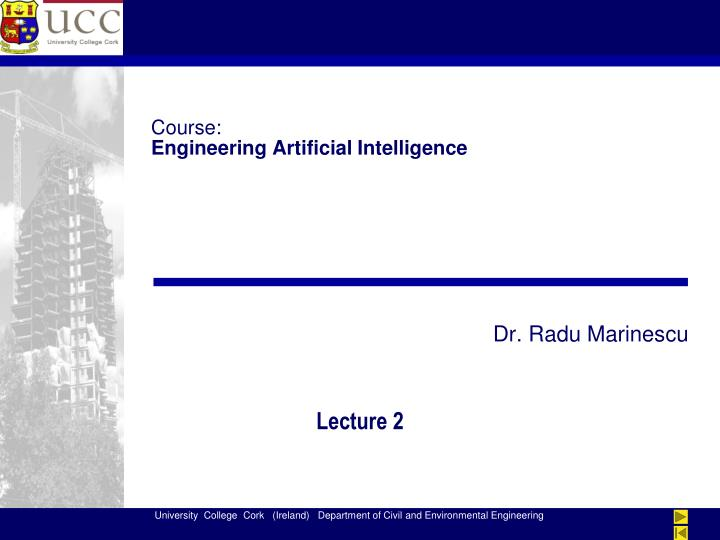 Course engineering artificial intelligence