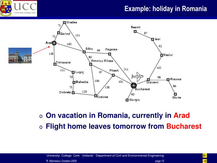 Example: holiday in Romania