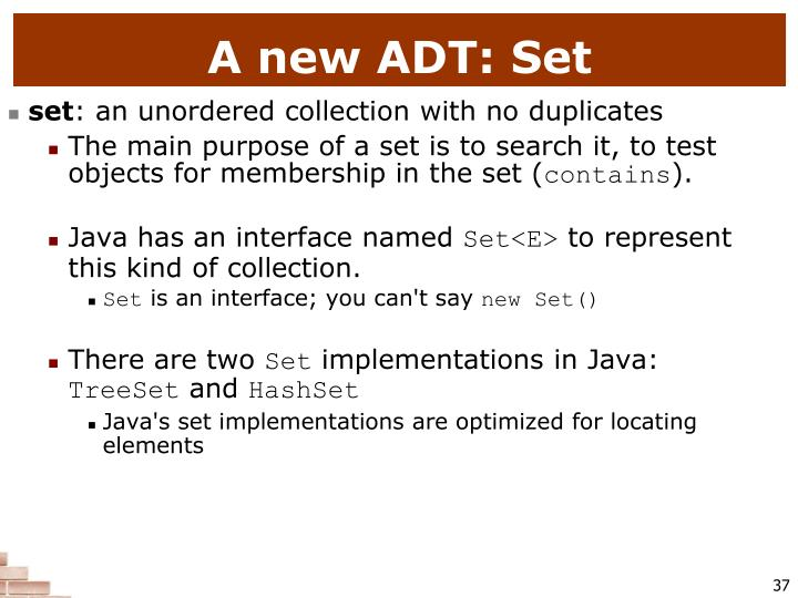 A new ADT: Set