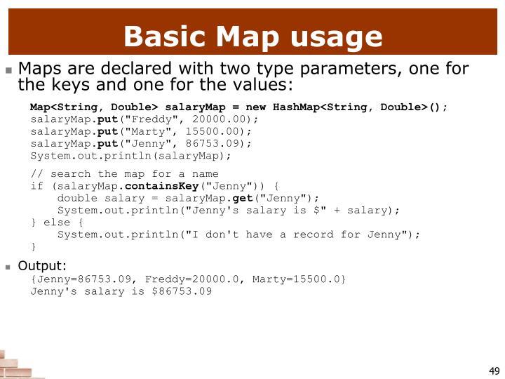 Basic Map usage
