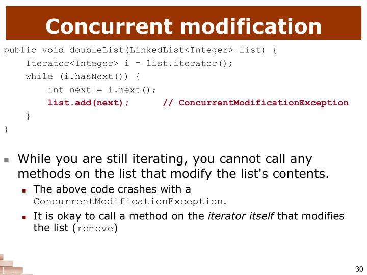 Concurrent modification