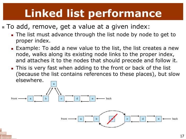Linked list performance