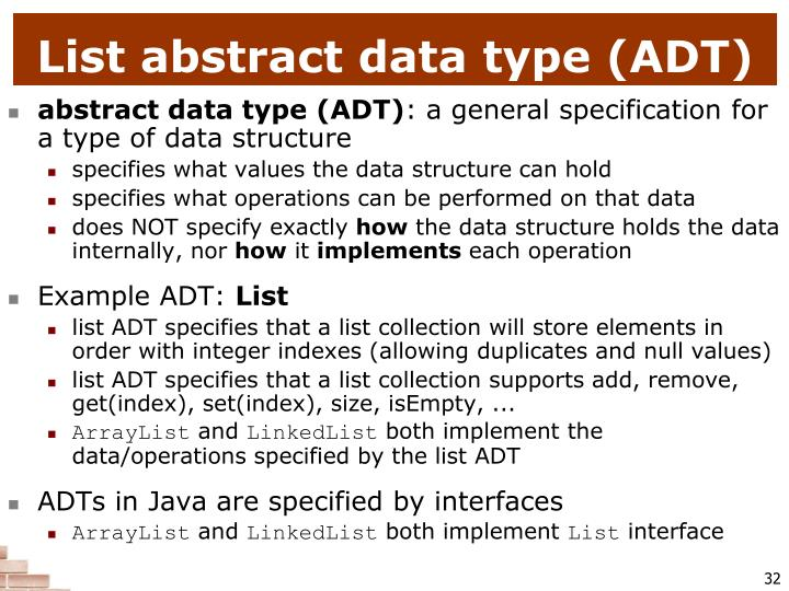 List abstract data type (ADT)