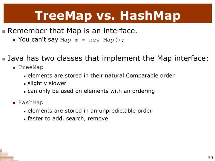TreeMap vs. HashMap