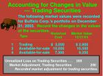 accounting for changes in value trading securities