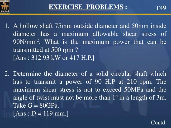 EXERCISE  PROBLEMS