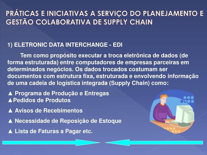PRÁTICAS E INICIATIVAS A SERVIÇO DO PLANEJAMENTO E GESTÃO COLABORATIVA DE SUPPLY CHAIN